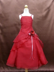 Flower girl dress in red
