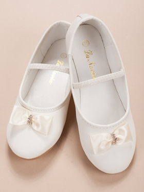 Flower Girl Shoes with Accented Bow