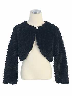 Fur Jacket with Button Closure