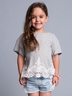 Gray Lace Cotton Top