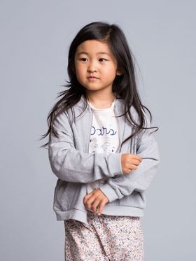 Grey Mickey Zip-up Sweater