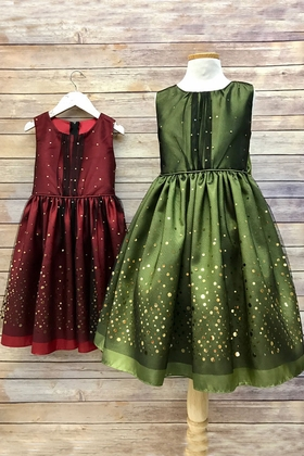 Holiday Inspired Two Tone Mesh Dress