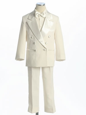 Ivory  Double Breasted Boy's Tuxedo without Tail