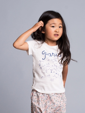 Le Paris Graphic Cotton Top