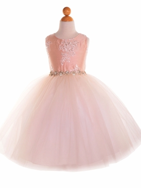 Luxurious Silk Top Dress With Full Tulle Skirt