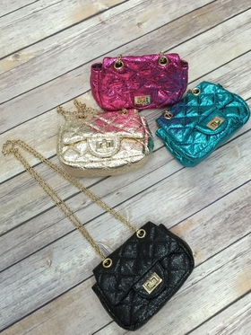 Mini Channel Diamond Quilted Bag