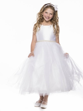 Pearl Bridal Satin Communion Dresses