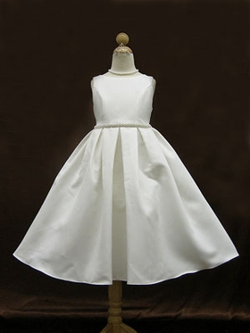 Pearl Trimed Flower Girl Dress