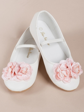 Pink Flowers  Accented Girl Shoes