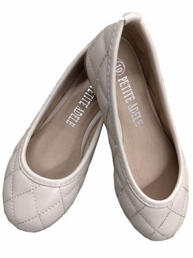 Plain Quilted Flower Girl Shoes