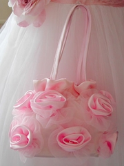 Rose purse for flower girl dress
