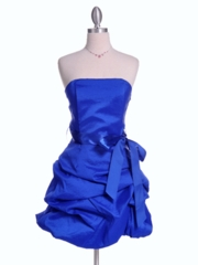 Royal Bubble Hem Party Dress