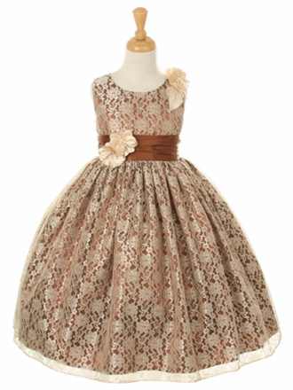Champagne / Brown Flower Girl Dresses at mygirldress.com - Shop by ...