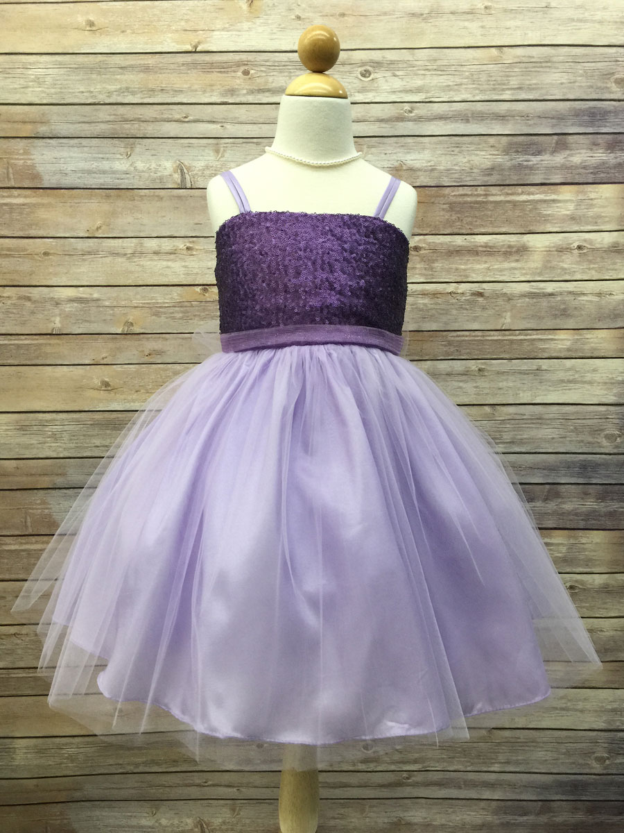 Sequin Top Flower Girl Dress With Tulle Skirt - GIRLS GRADUATION ...