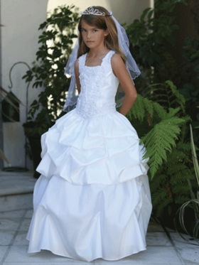Stunning Convertable Taffeta Communion Dress
