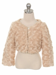 Super Soft Bolero With Pearl Button Closure