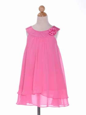 Sweet Pink  Double Layered Flower Girl Dress