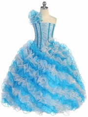 Stunning Princess Style Ruffled Girl's Pageant Dress