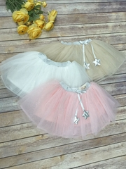 Tutu Skirt With Ribbon Detail & Star Puff