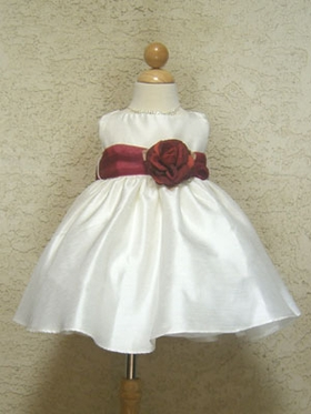 Washable Poly Silk Infant Girl Dress