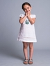 White Cotton Cap Sleeve Shift Dress