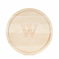 10.5 Inch Round Monogrammed Cutting Board In Maple
