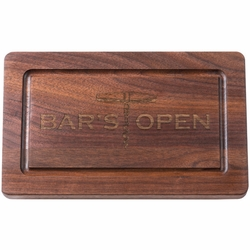 13 inch Rectangle Personalized Black Walnut Cutting Board