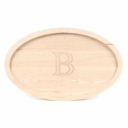 "15x24 Large Oval Monogrammed Cutting Board ""Trencher"""