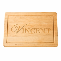 18 inch Rectangle Monogrammed Cutting Board