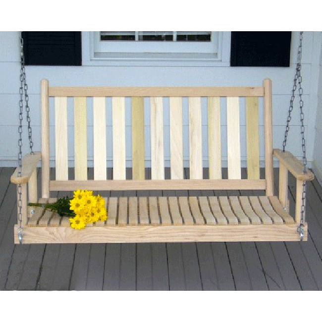 4 Foot Porch Swing Custom Color Outdoor Garden Swing