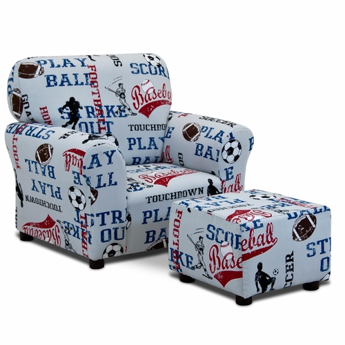 All Sports Club Chair And Ottoman Set