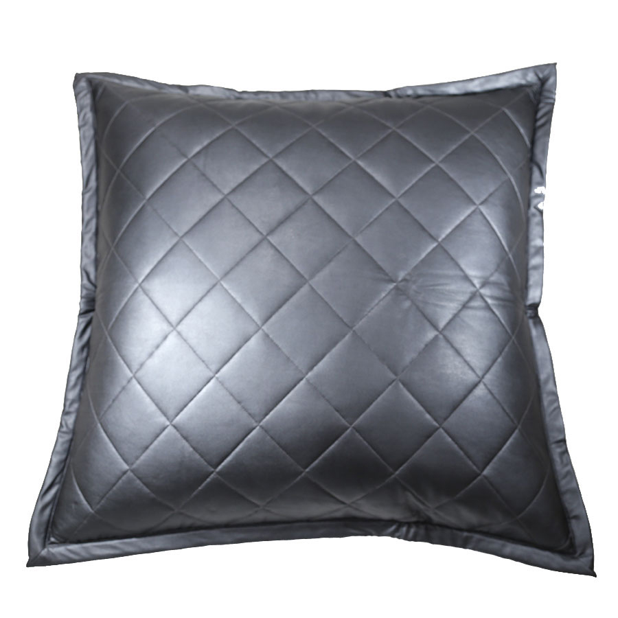 faux leather euro sham by ann gish  quilted