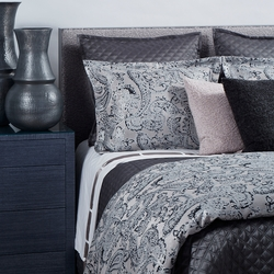 Arabesque Duvet Set in Charcoal
