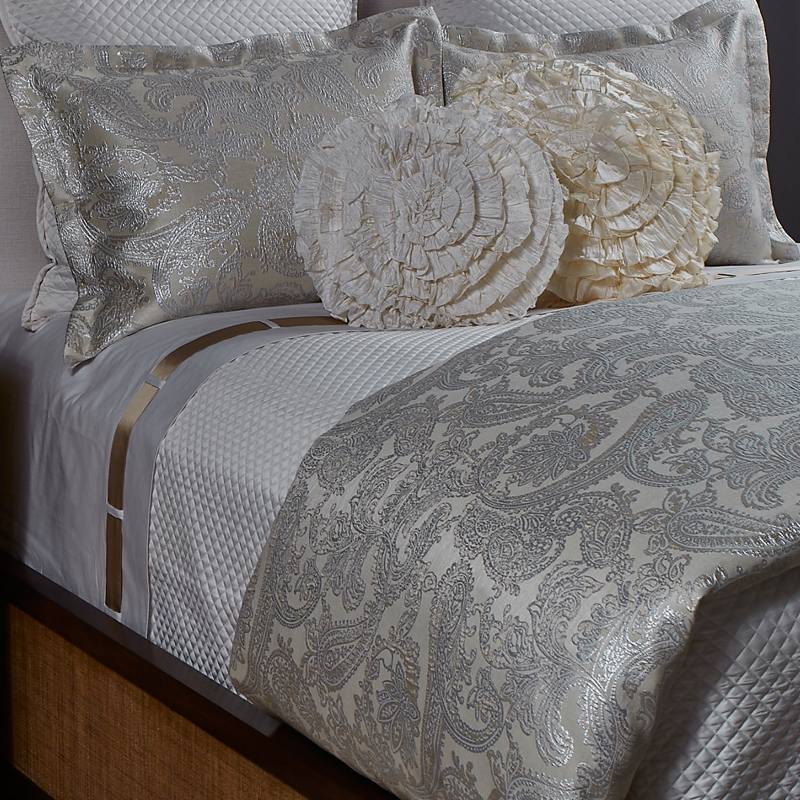 Arabesque Duvet Set In Platinum The Art Of Home Bedding