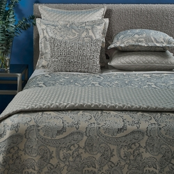 Arabesque Duvet Set in Silver