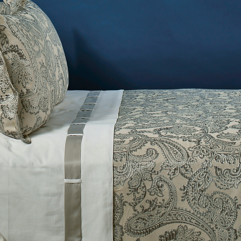 arabesque duvet set in silver  the art of home bedding by ann gish  king duvet set