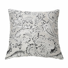 Arabesque Pillow in Charcoal