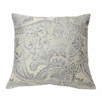 Arabesque Pillow in Silver