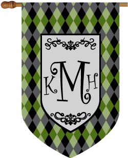 Argyle Monogrammed House Flags