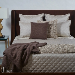 Raffia Coverlet Set in Taupe