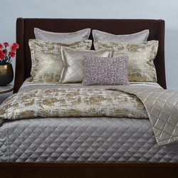 Scratch Duvet Set in Gold