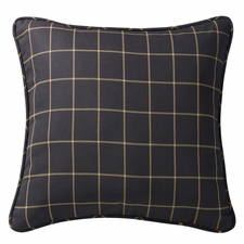 Ashbury Black Windowpane Euro Sham