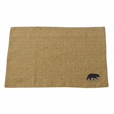 Ashbury Burlap Placemats With Black Bears