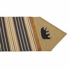 Ashbury Burlap Table Runner With Embroidered Black Bears
