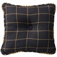Ashbury Windowpane Tufted Pillow