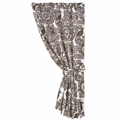 Augusta Black Bird Toile Curtain