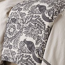 Augusta Black Bird Toile Duvet Cover