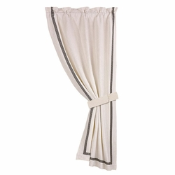 Augusta Matelasse Curtain With Greek Key Trim