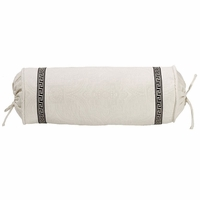Augusta Matelasse Neckroll Pillow With Greek Key Trim