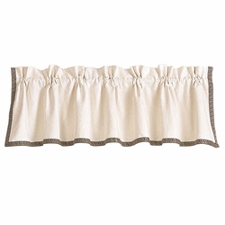 Augusta Matelasse Window Valance With Greek Key Trim